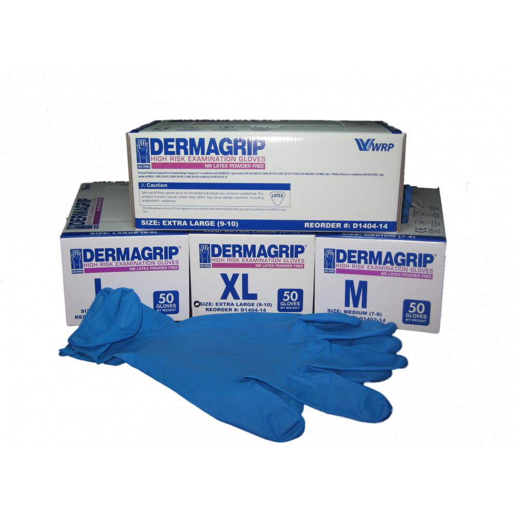 Перчатки DermaGrip S,M,L
