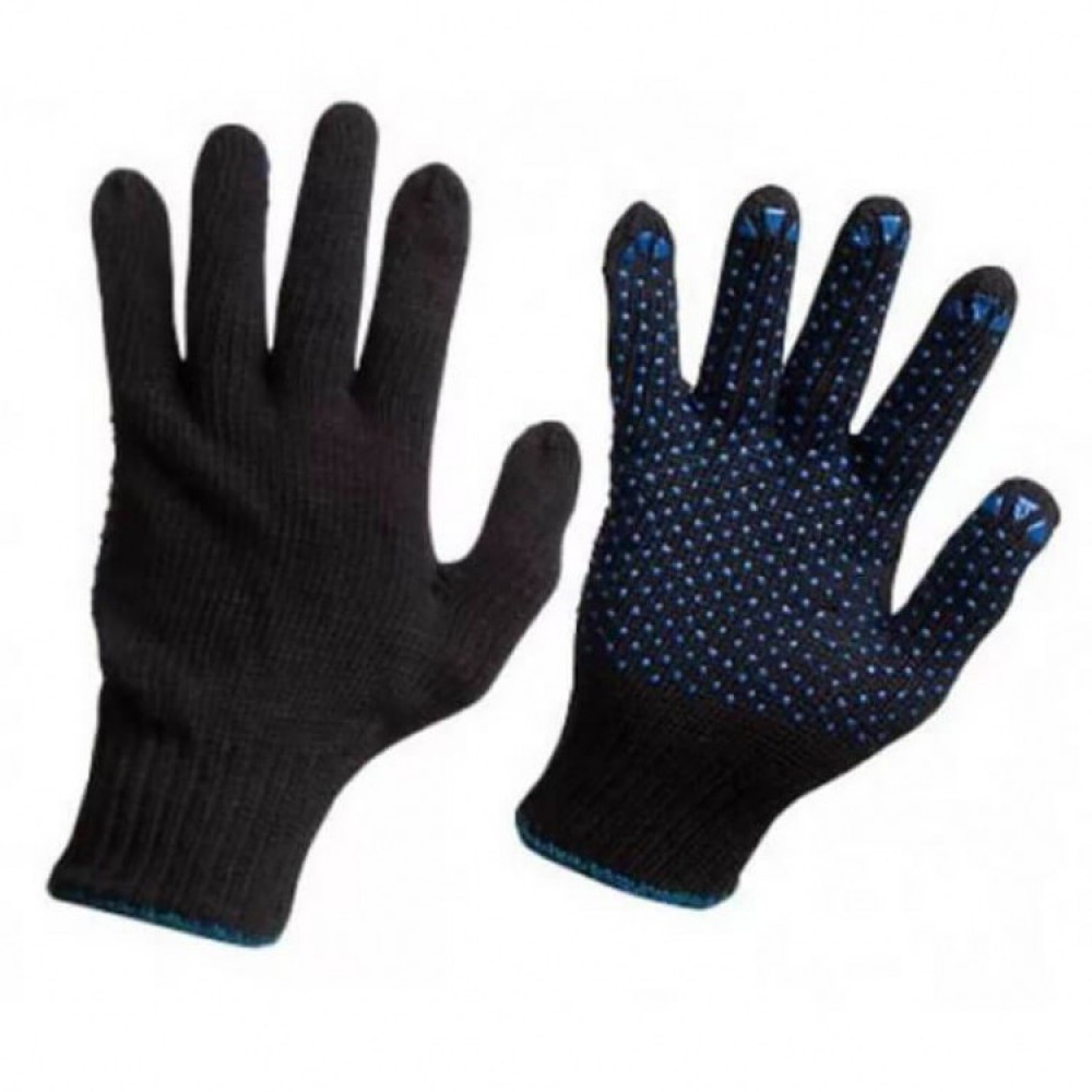 Перчатки Полушерсть черные
