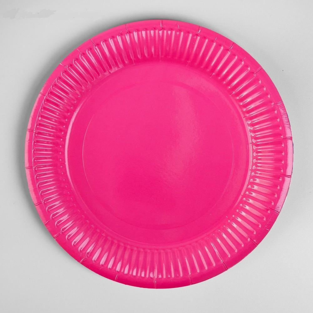 Тарелка бумажная, однотонная, 18 см