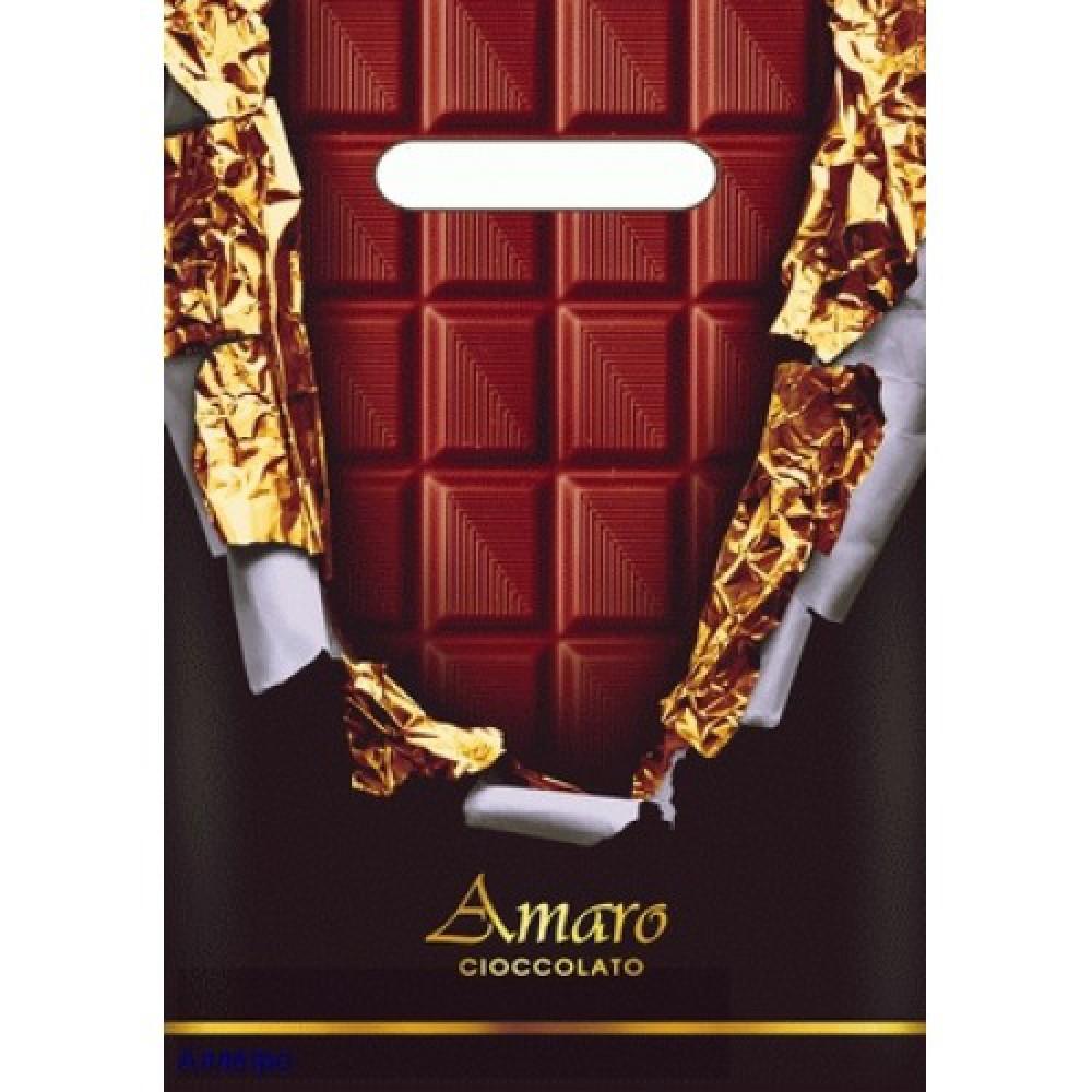 Пакет ПВД с проруб.руч. 20*30/30 Горький шоколад