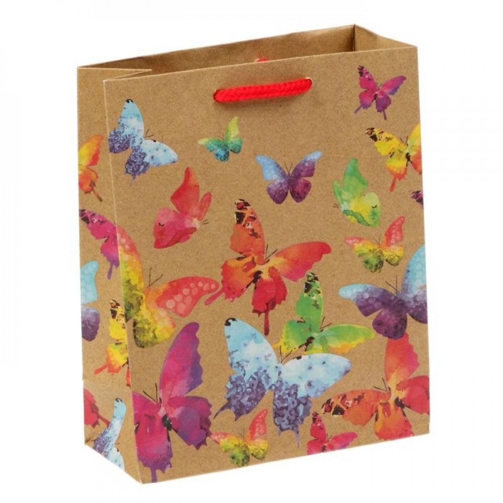 Пакет вертикальный крафт бабочки 23*27*8
