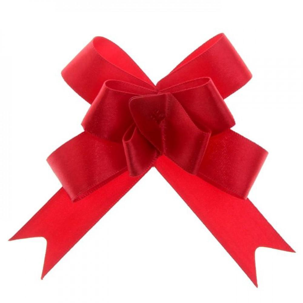 Бант бабочка №1,8 атласный цвет красный
