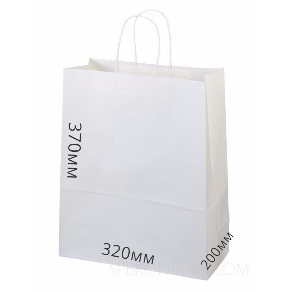 Сумка бумажная 370*320*200 белый, круч.руч (10шт)