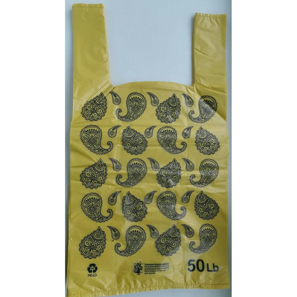 Майка ПНД Орнамент 30*55/25 9,0 грамм (Жёлтый) (50шт)