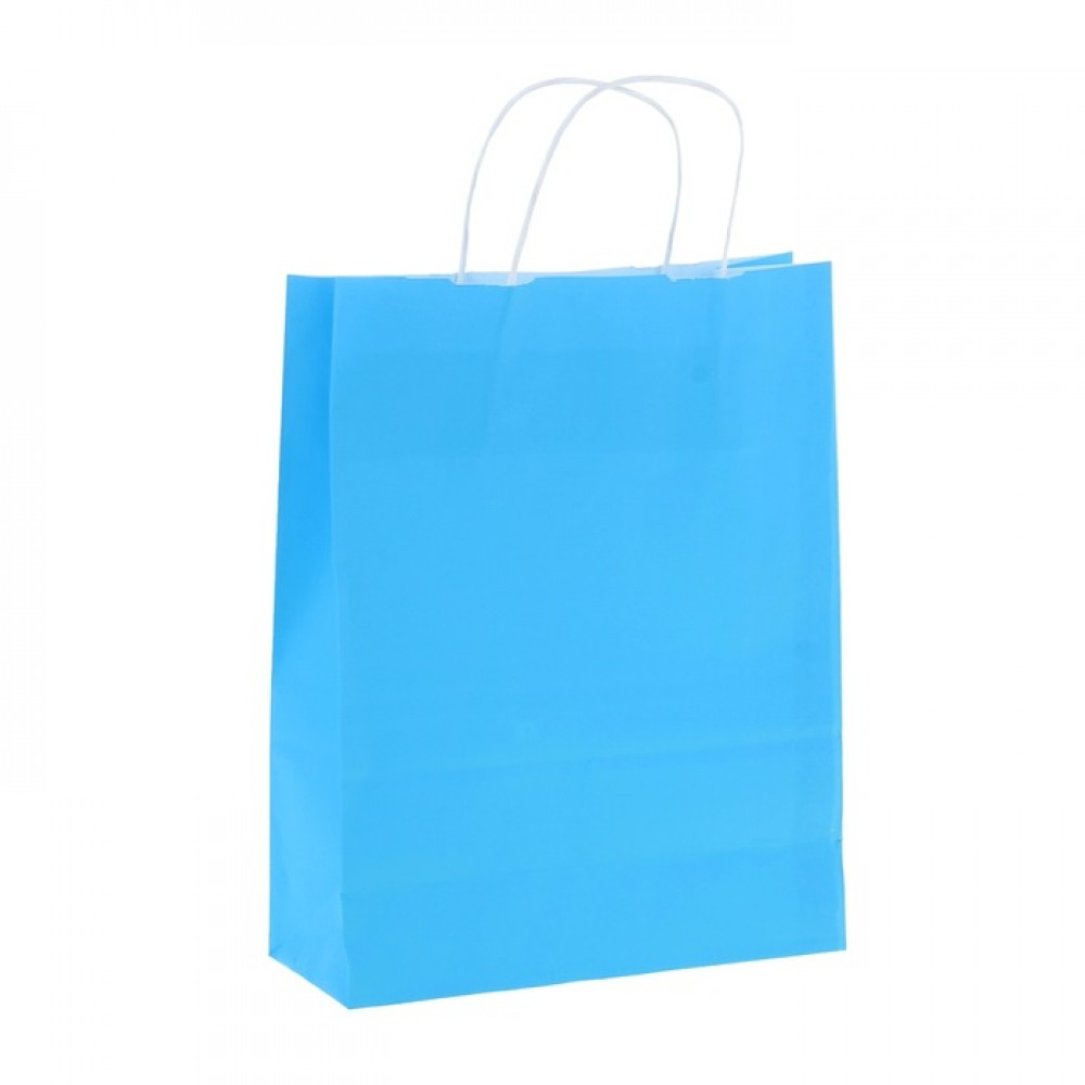 Пакет крафт Радуга голубой 25*32*11см