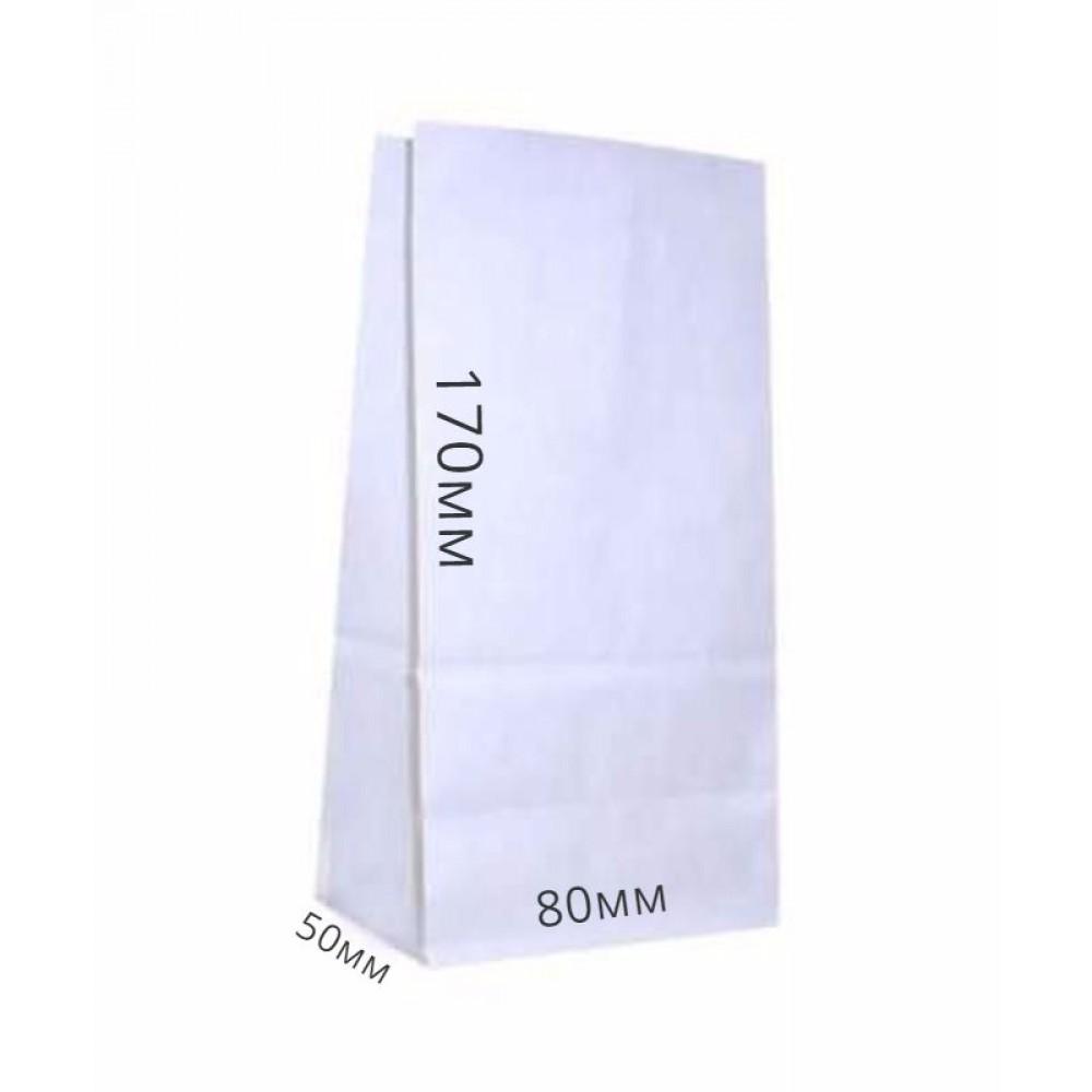 Пакет бумажный 170*80*50 белый (25шт)