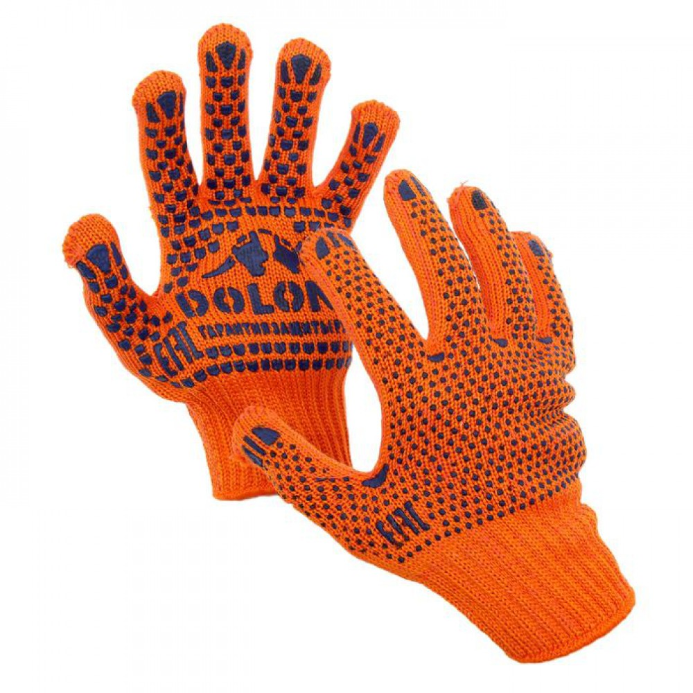 Перчатка с 2-х сторонней точкой ПВХ orange 7 класс