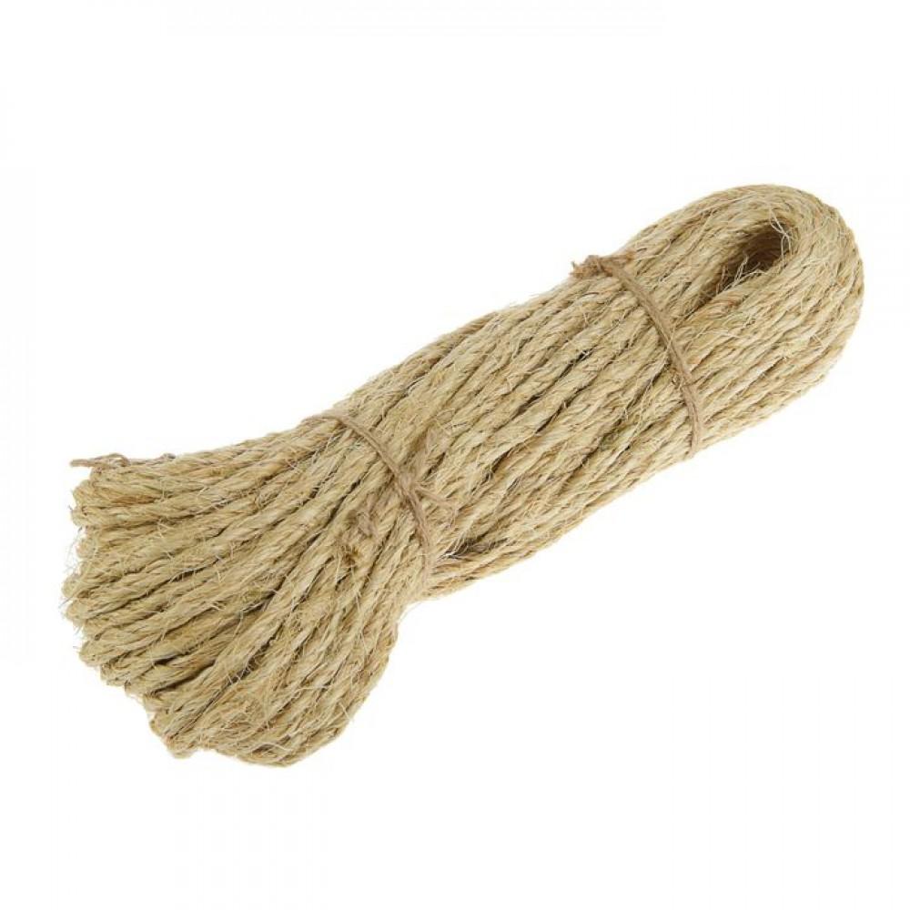 Веревка сизалевая крученая 4,0мм (25м)