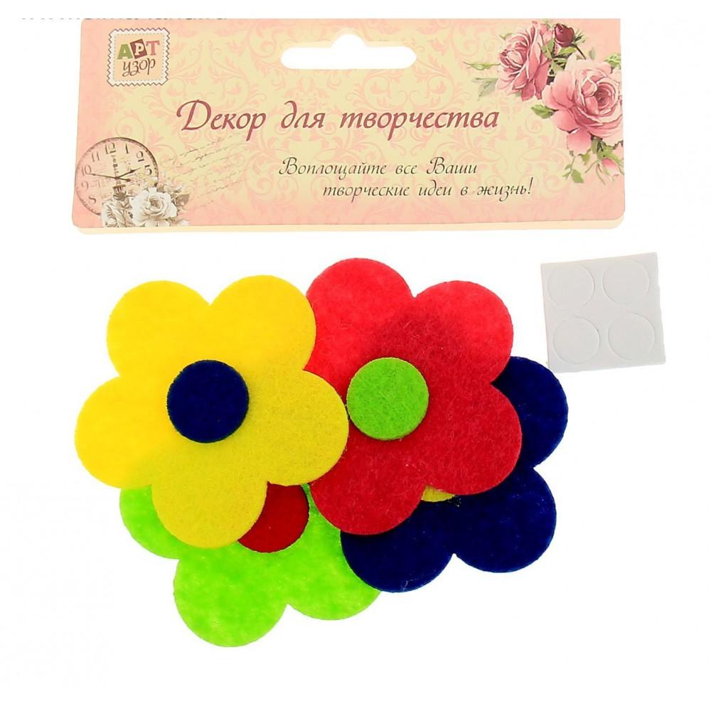Набор для творчества войлок набор 5шт Цветочек в цветочке