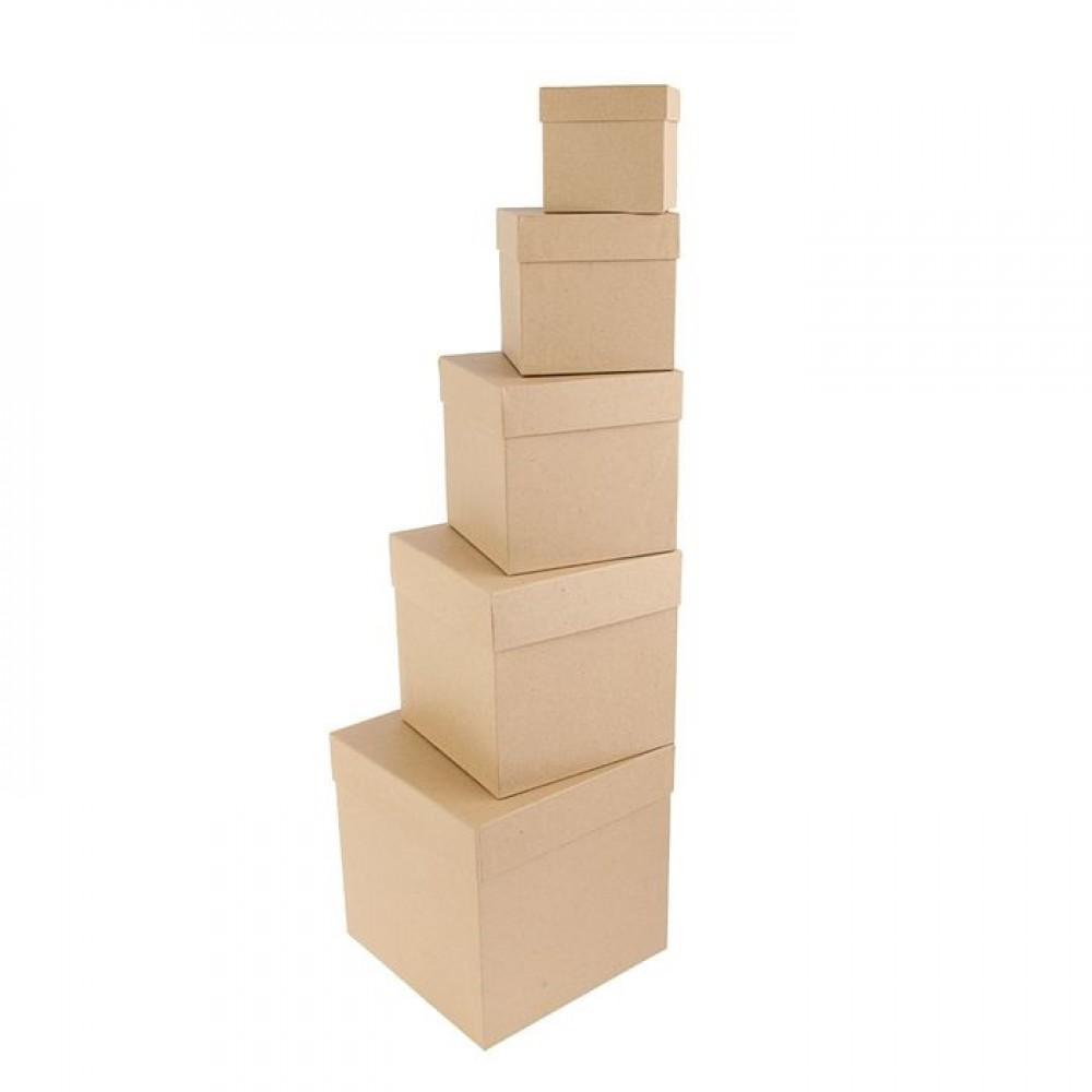 Коробка крафт однотонный (сред)