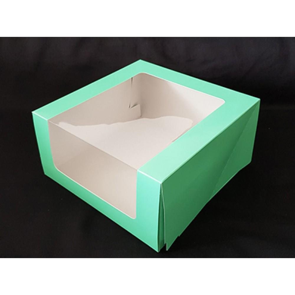 Кондитерская упаковка с окном Мусс зеленый, 23,5*23,5*11,5