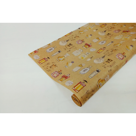 Бумага упаковочная крафт в ассортименте (цветочная) 0,84*10