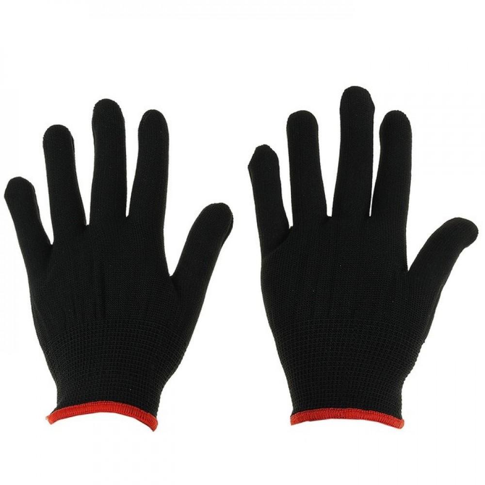 Перчатки нейлоновые без покрытия, размер 8 черные