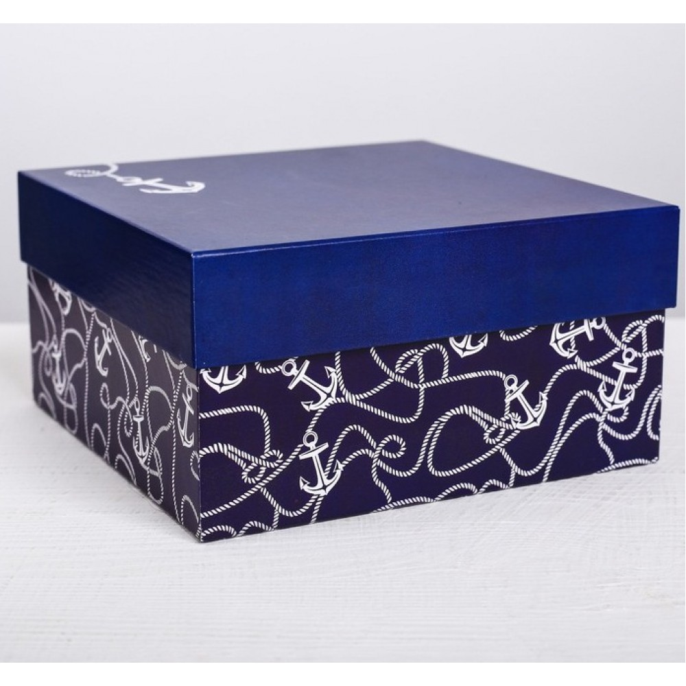 Коробка подарочная Якорь 18*18*9,5см