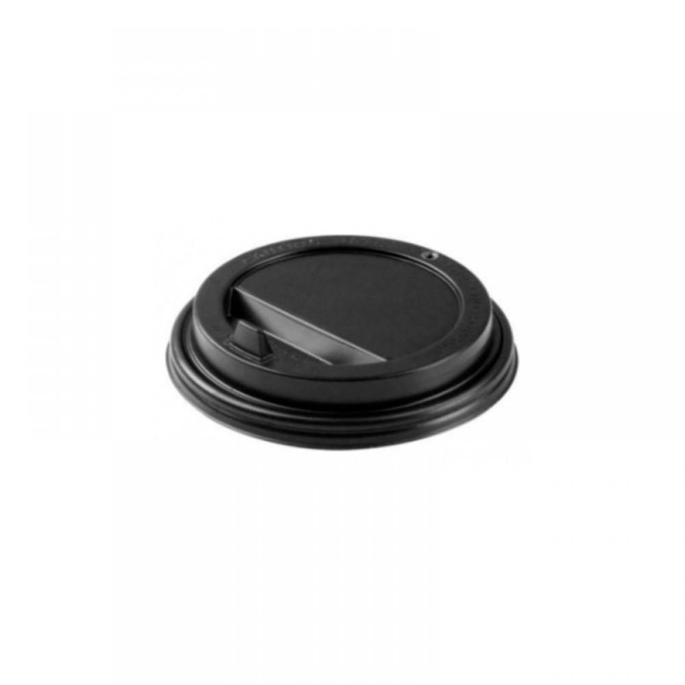 Крышка для гор.напитков с откидным питейником(80мм.) чёрные (100 шт)