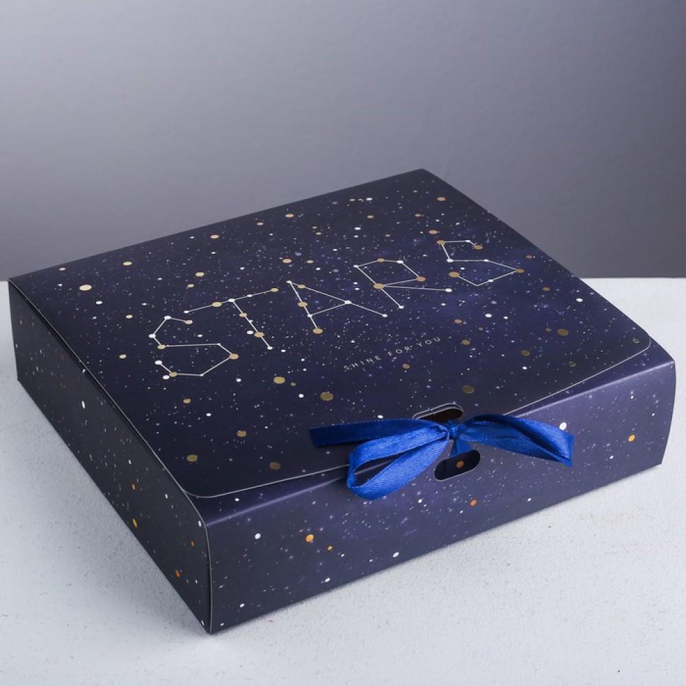 "Коробка подарочная ""Stars"" 20*18*5 см"