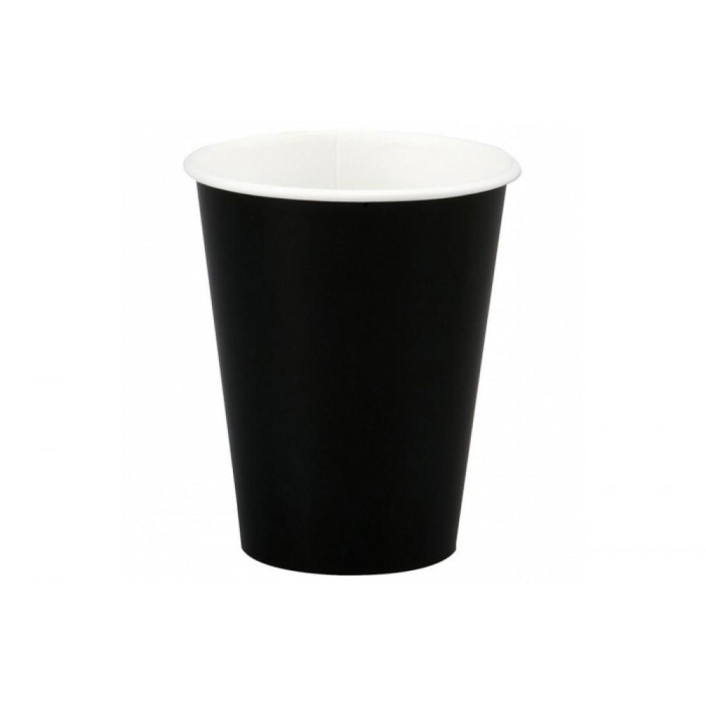 Стакан бумажный 350мл. черный (25шт.)