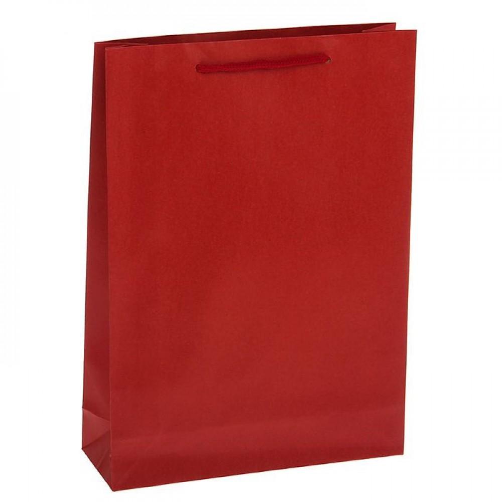 Пакет крафт красный 24*33*8,5см