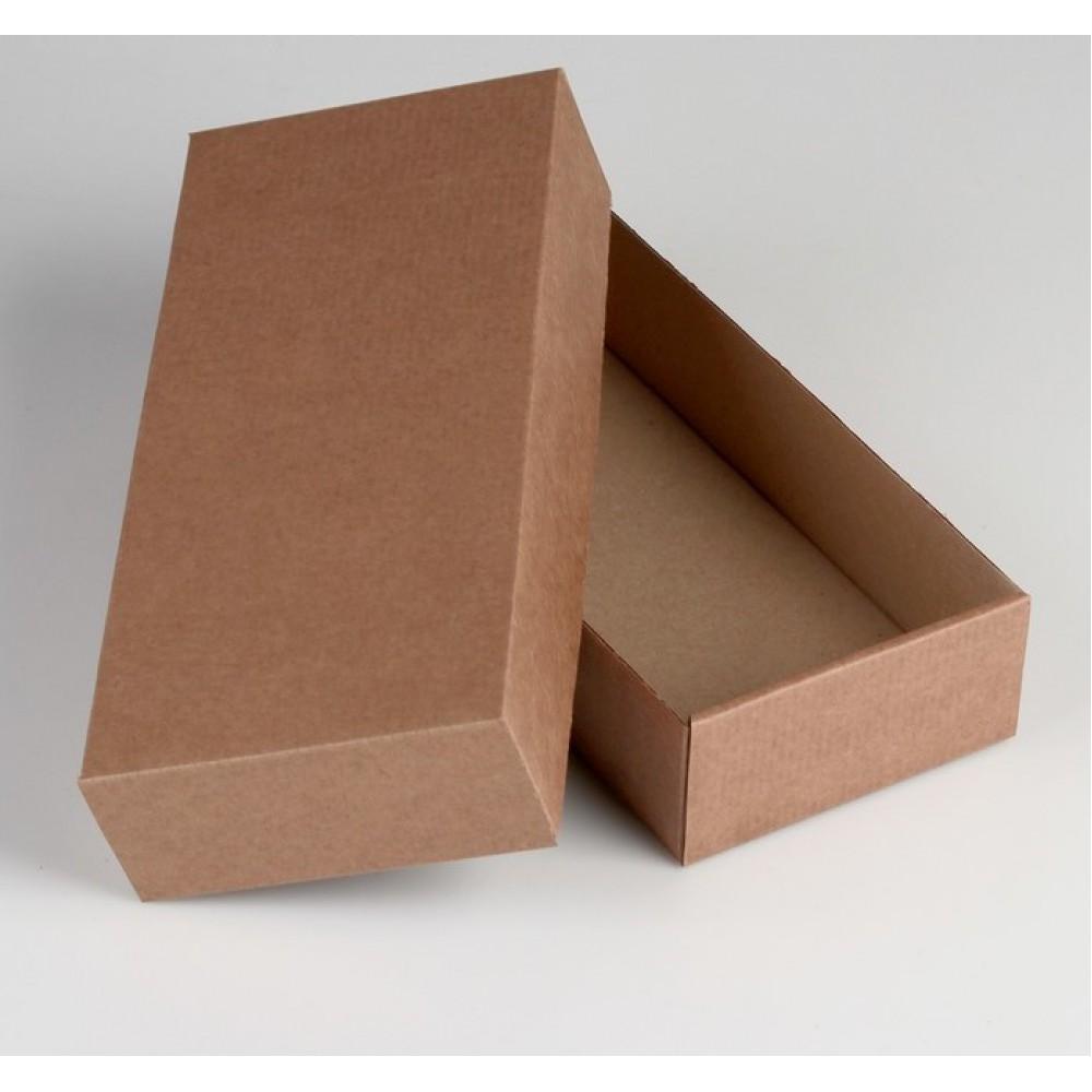Коробка сборная без печати крышка-дно бурая без окна 24*11,5*4,5см