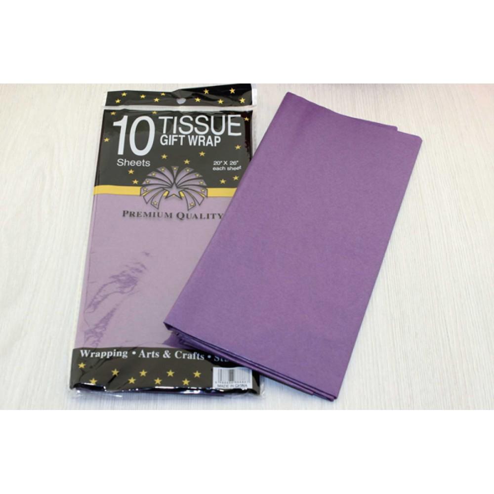 Бумага тишью, цвет фиолетовый, 50*66 см