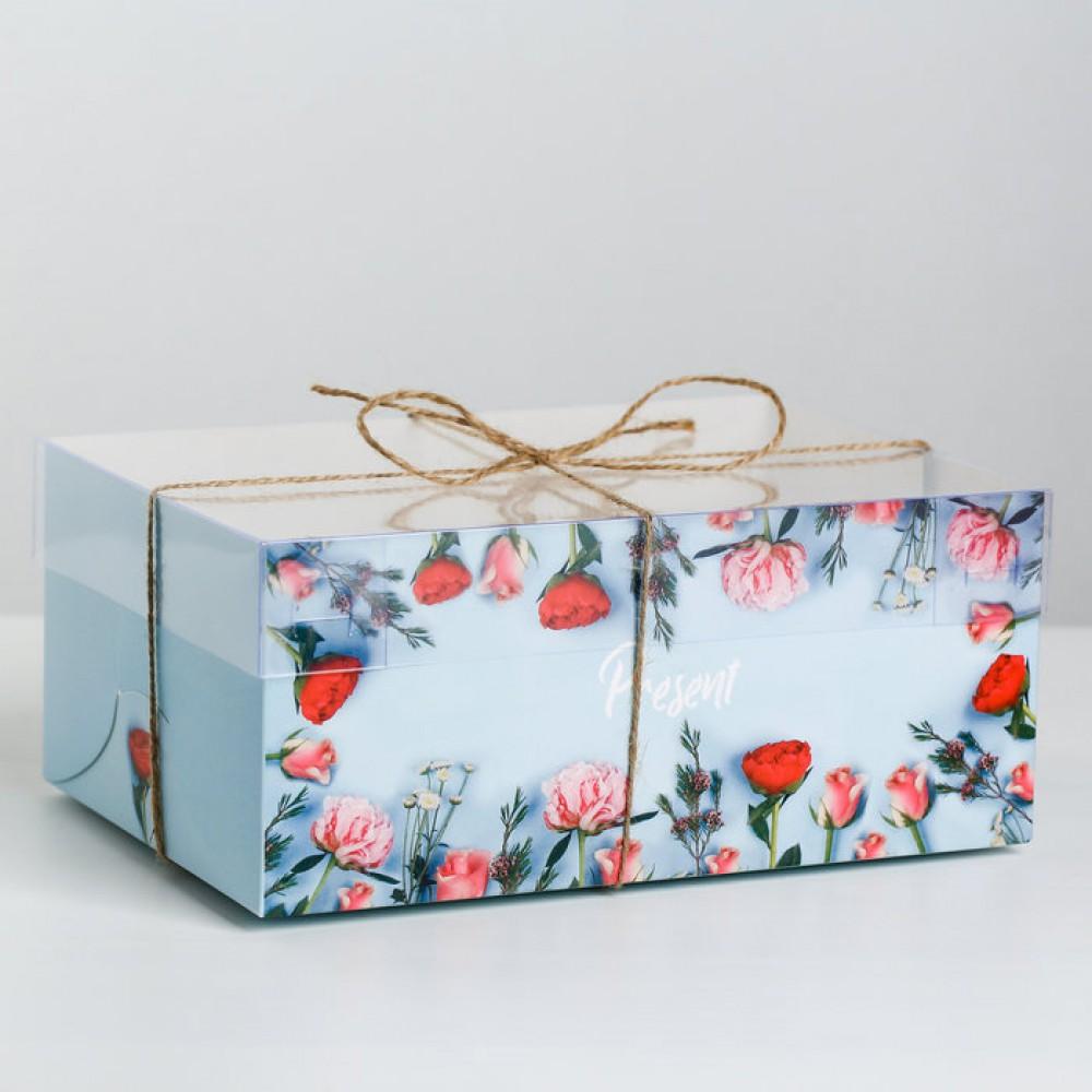 Коробка для капкейка Present 23*16*10