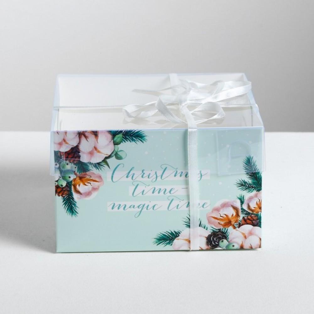 Коробка для капкейка Christmas 16*16*10