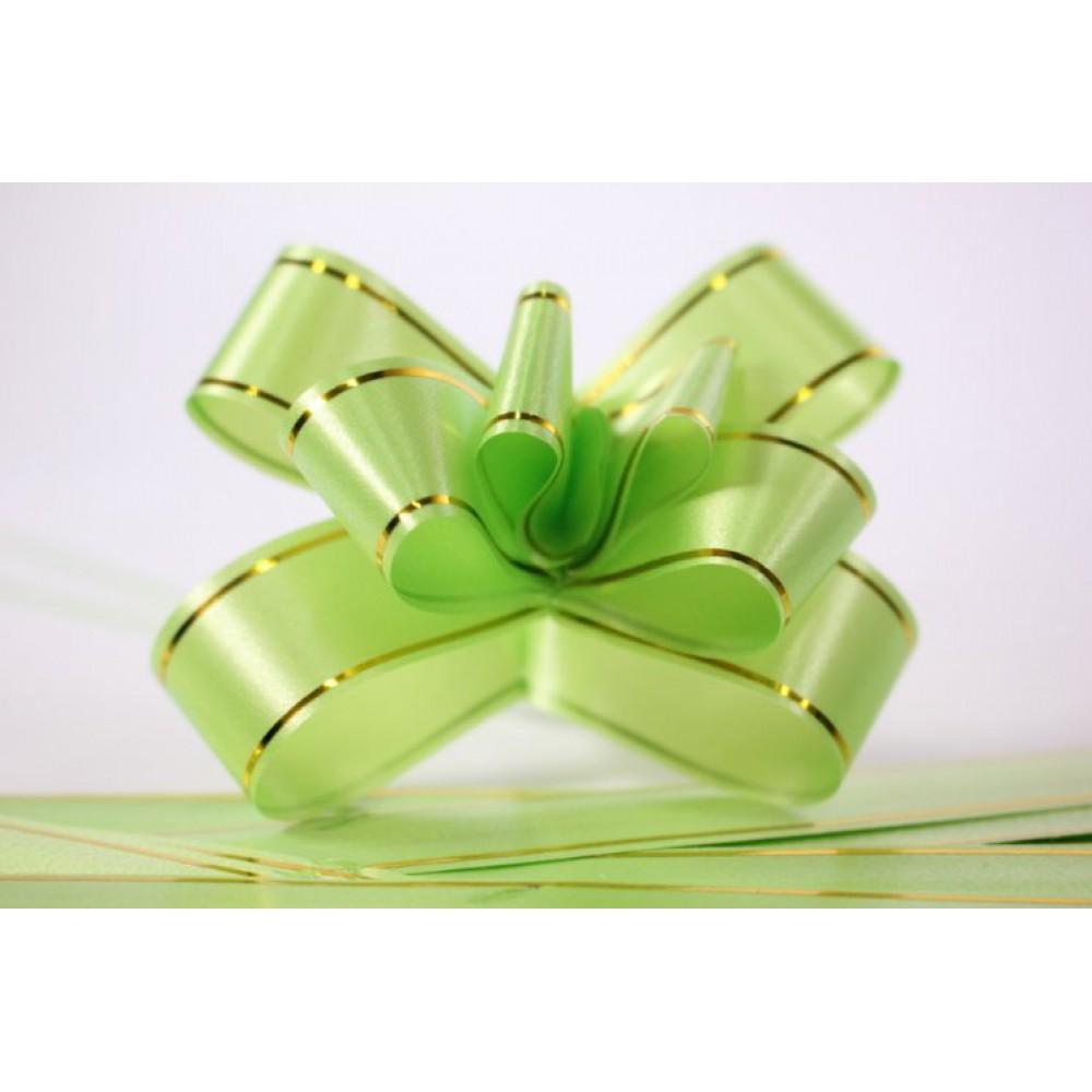 Бант-бабочка №3, матовый салатовый