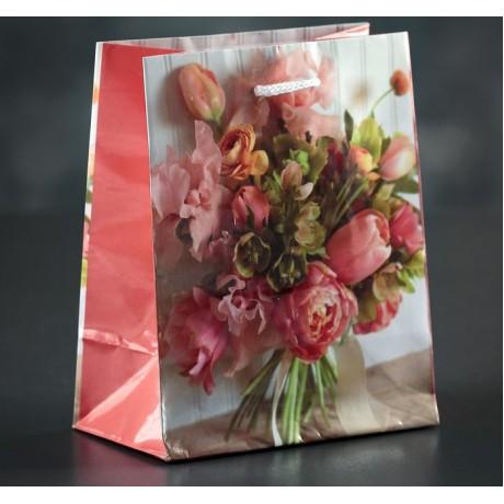 Пакет ламинированный Букетик 12*15*5см