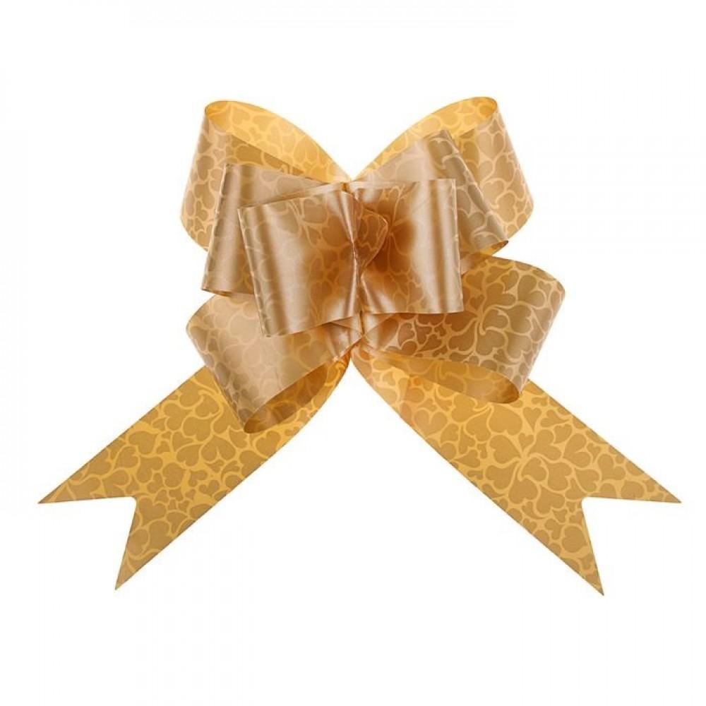 Бант бабочка №3 Сердца золото