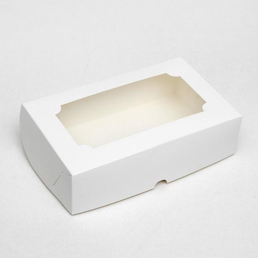 Коробка складная под зефир,белый, 25*15*7 см