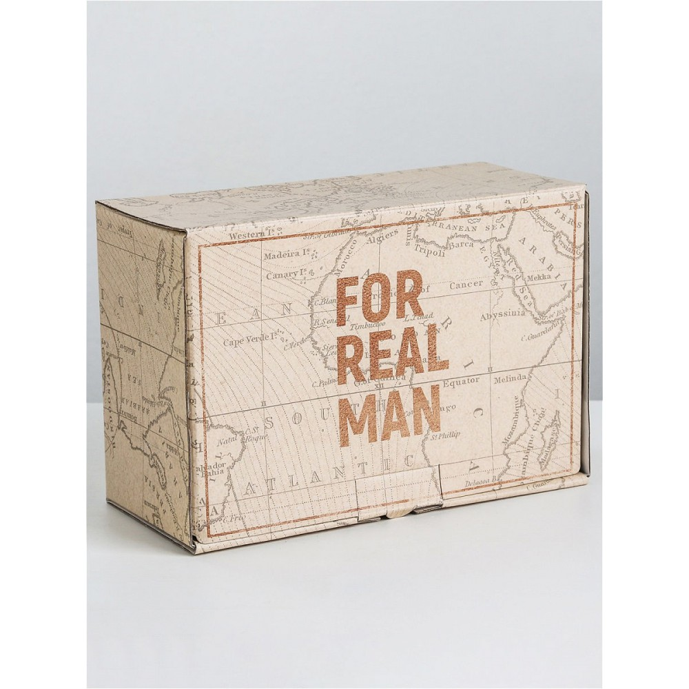 Коробка-пенал For real man 22*15*10 см