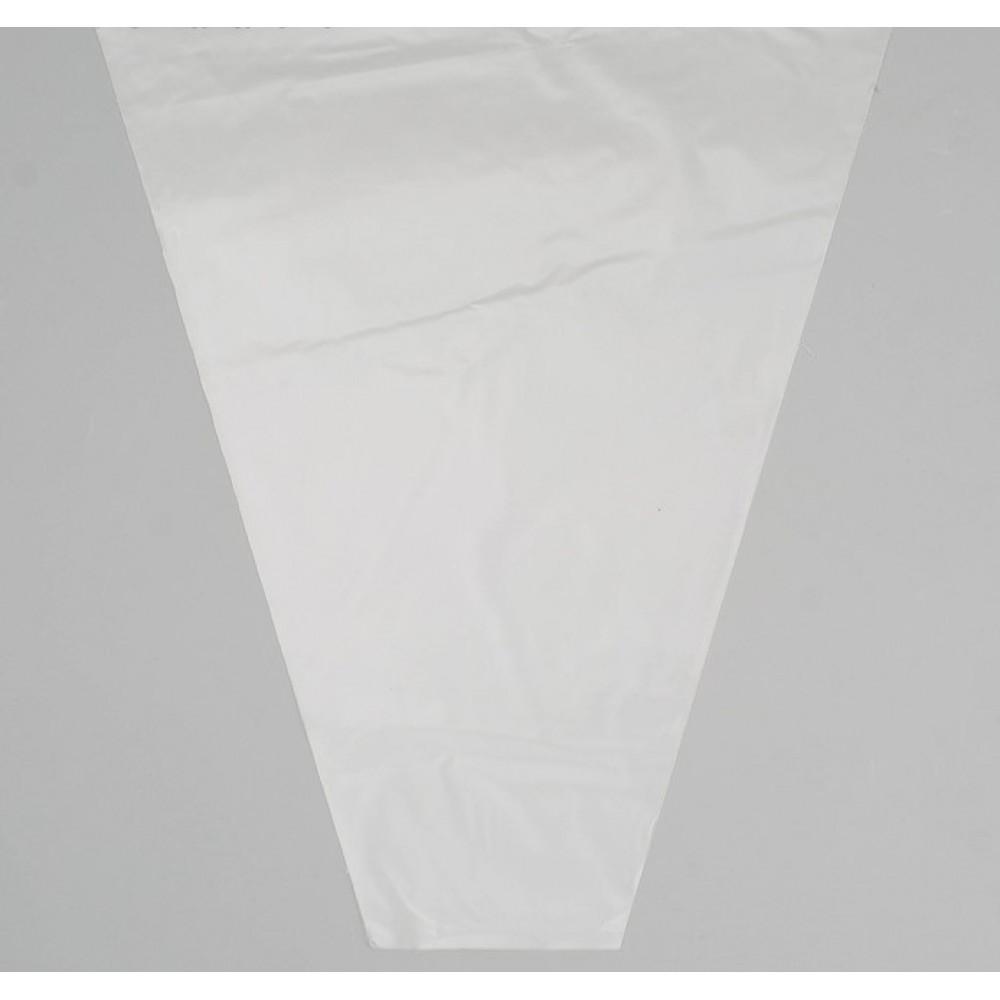 Пакет для цветов конус Прозрачный 35*40см (100шт)