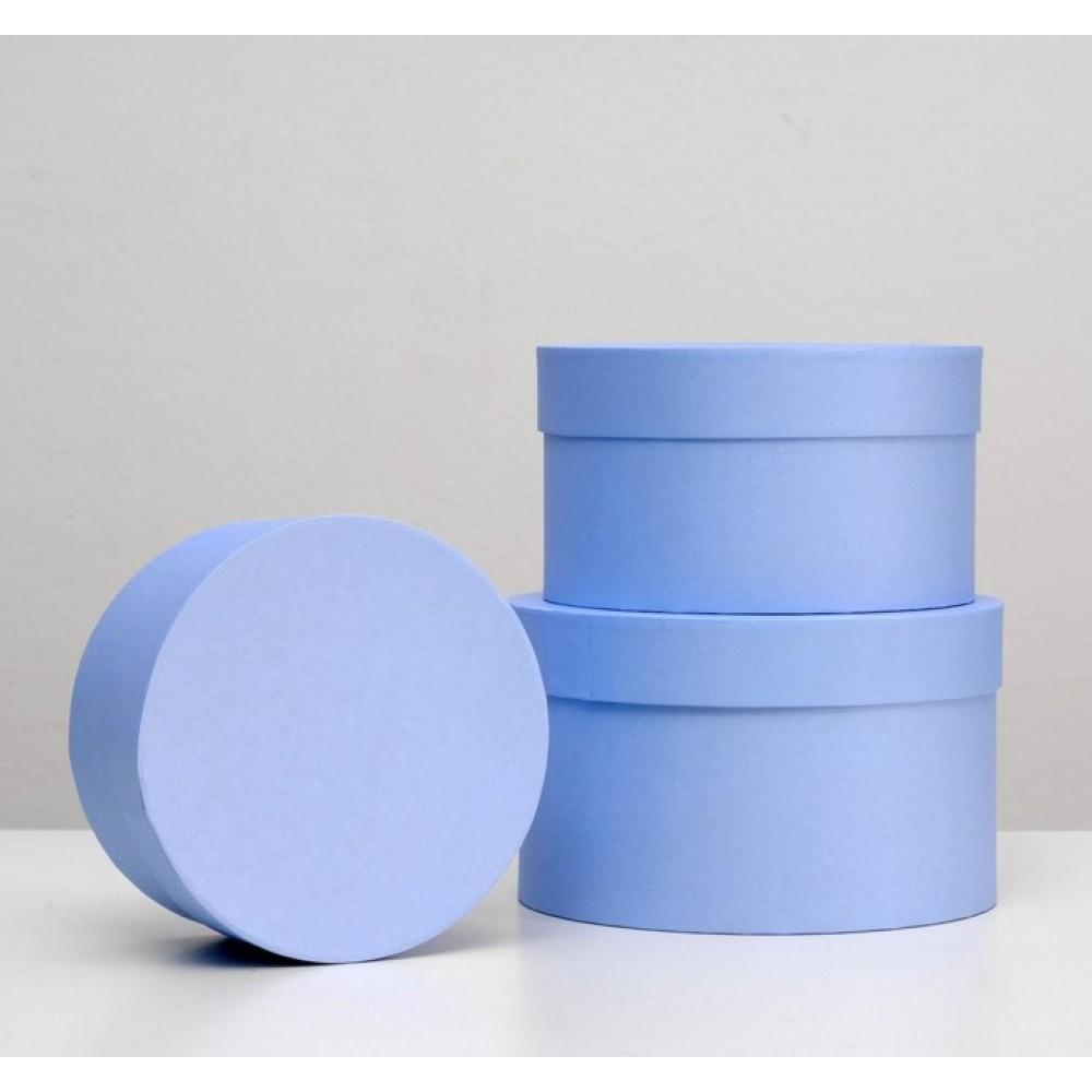 Коробка круглая синяя