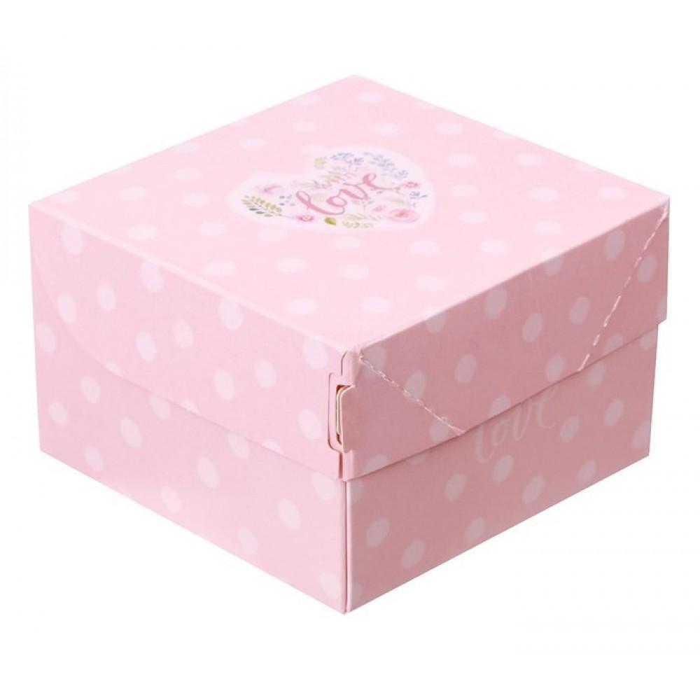Коробка из картона С любовью 12*8*12см