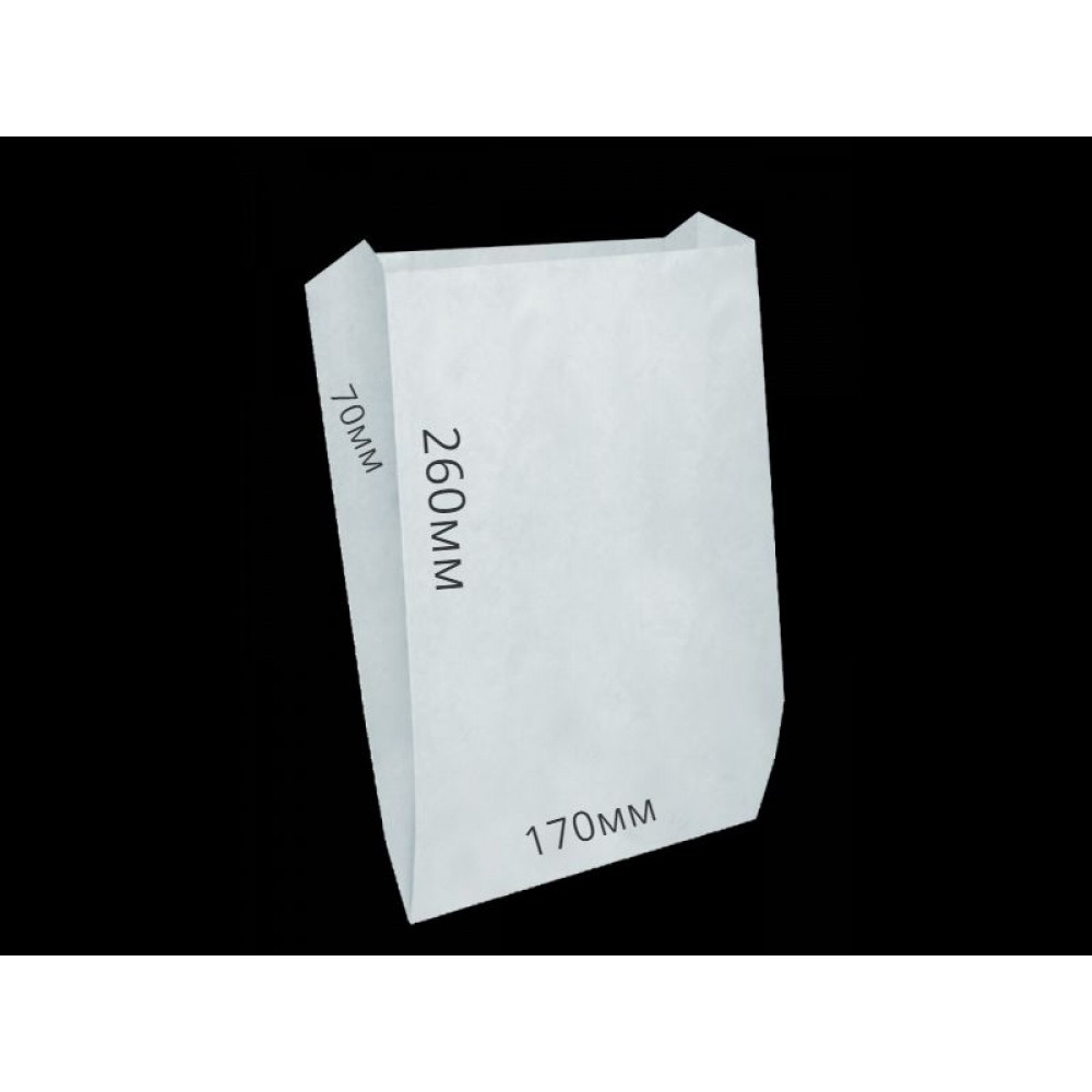Мешок бумажный 260х170х70 белый (100шт)