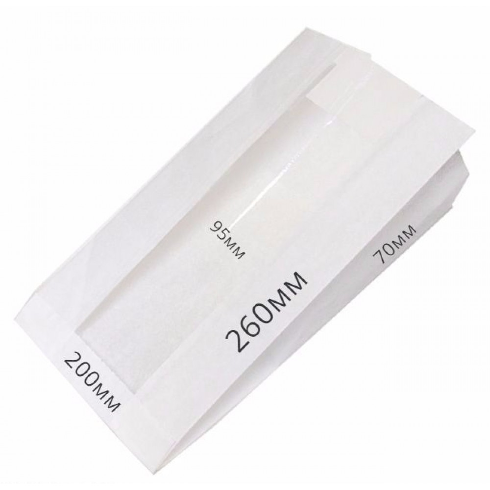 Мешок бумажный 260х200х90 с окном (100шт)