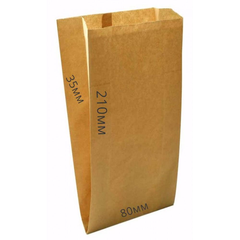 Мешок бумажный 210х80х35 крафт (100шт)