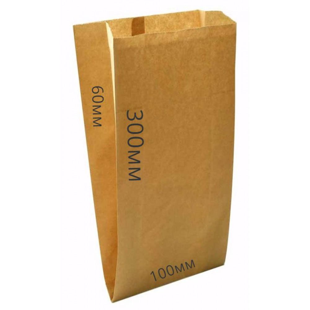 Мешок бумажный 300*100*60 крафт (100шт)