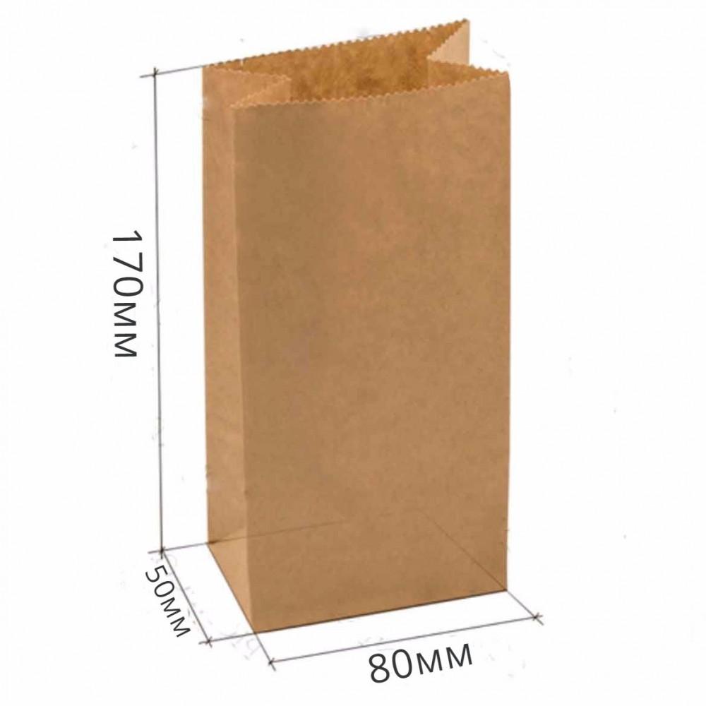 Пакет бумажный 170*80*50 крафт (25шт)